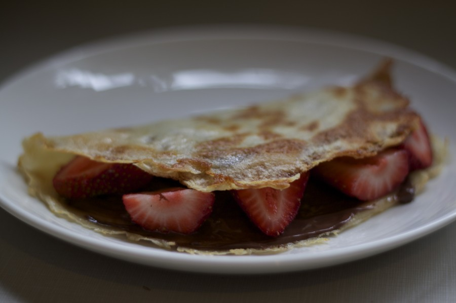 Strawberry & Nutella Crepes