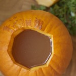 Pumpkin with broth