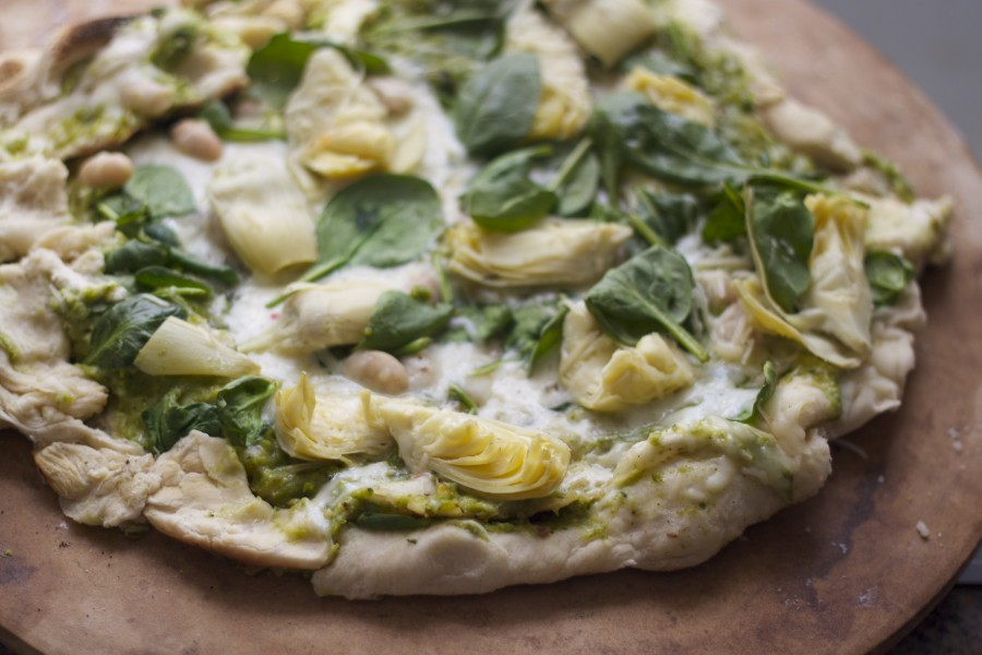 Clearly Delicious » Green Goddess Pizza: Pizza with ...