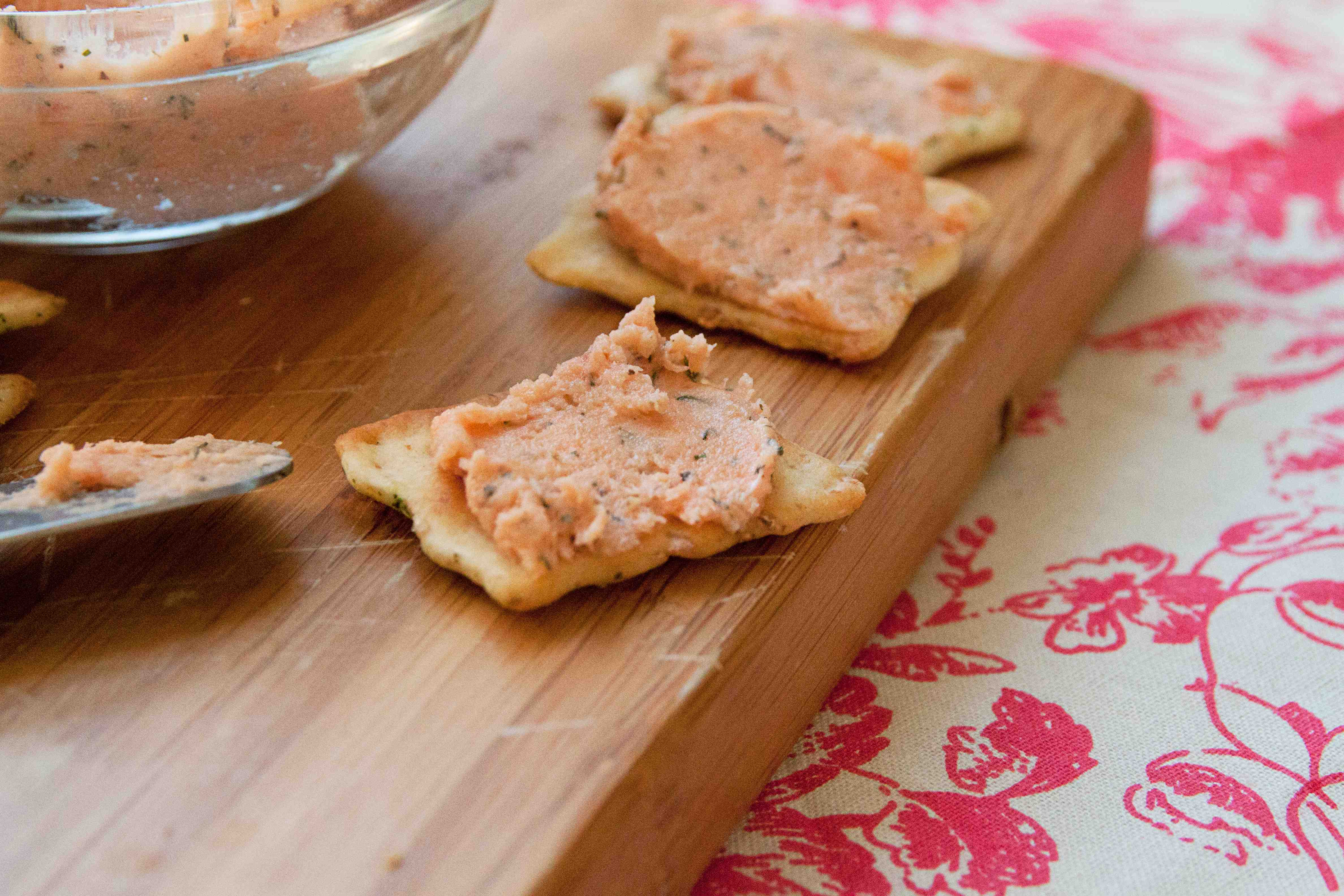 Pictured: Linda's Salmon Pâté that I've loved since childhood ...