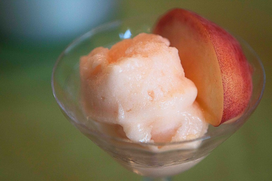 Clearly Delicious » Peach Sorbet