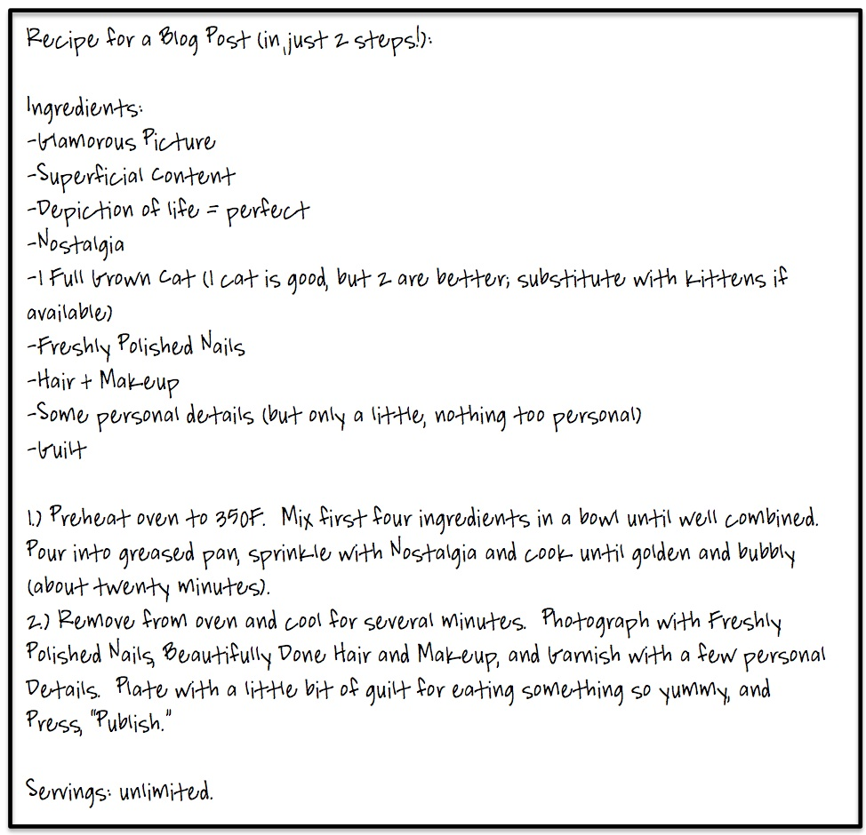 Recipe for a Blog Post copy