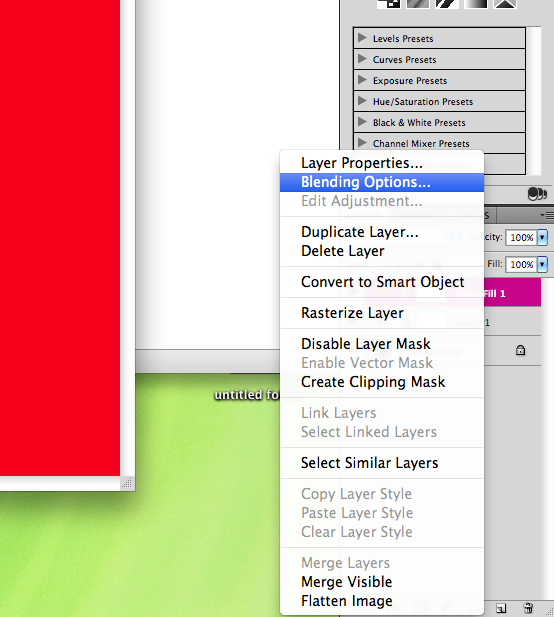 red layer blending options
